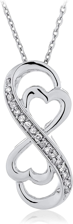 .925 Sterling Silver 1 Kansas City Seasonal Wrap Introduction Mall 10 Cttw Stylized Knot wi Infinity Diamond