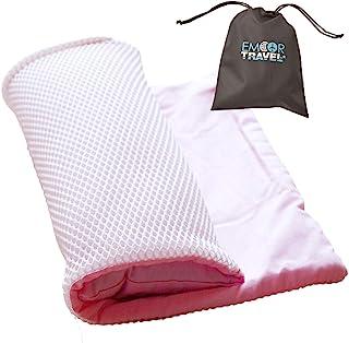 エムール 枕職人がつくった 洗える 携帯枕 『トラベルピロー』 日本製 ピンク