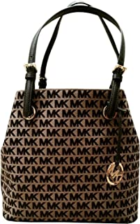Michael Kors Jet Set Item Grab Bag Signature Jacquard Handbag Tote