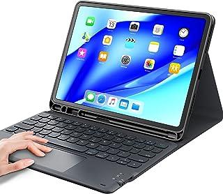 iPad air4キーボードケース タッチパッド付き ipad 10.9/11インチ対応 第1世代/第2世代「Apple Pencil 2ワイヤレス充電対応」Bluetooth キーボードカバー 脱着式 多角度調整 傷つけ防止 耐久性 [ペンシ...