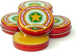 12 Boxes X 3 Grams (Net Weight), Golden Star Balm, Cao Sao Vang Vietnam, Aromatic Balsam