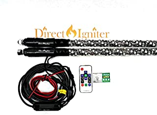 AMERICAN DREAM WRAPPED LED WHIPS PAIRS 316 MODES RAZORS QUADS JEEPS 4X4 SIDE BY SIDES (3 FOOT PAIR)
