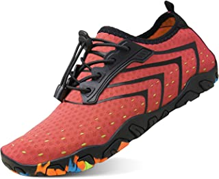 Men Women Barefoot Quick-Dry Water Sports Shoes Multifunctional Sneakers with Drainage Holes for Swim, Walking, Yoga, Lake, Beach, Garden, Park, Driving, Boating