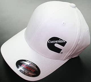 Cummins Fitted Flexfit Flex Fit White Hat Cap Dodge Truck Large/XL