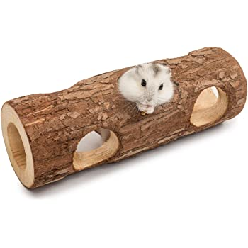 Niteangel Natural Wooden Hamster Mouse Tunnel Tube Toy Forest Hollow Tree Trunk