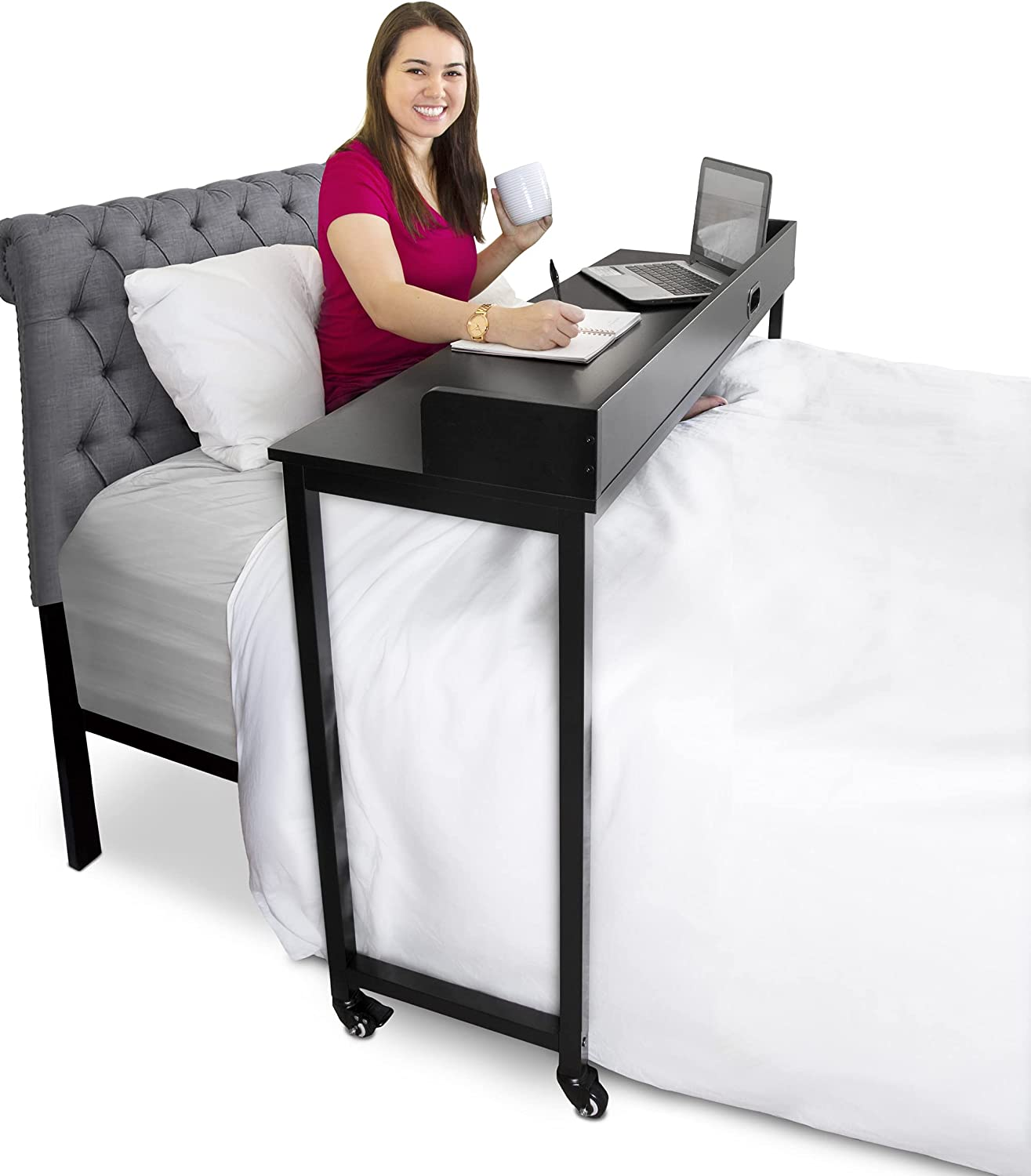 Miami Mall Stand Steady Joy Overbed Table Twin Memphis Mall Adjustable for Height Beds