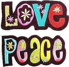 coloré Hippie Bus Bully Love Peace voiture patches brode appliques Ecusson