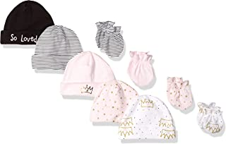 Gerber Baby Girls' 9-Piece Cap and Mitten Bundle