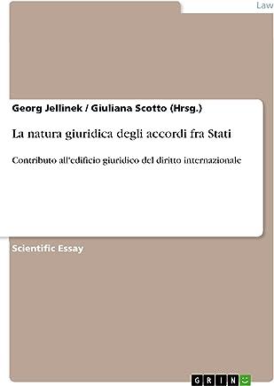 La natura giuridica degli accordi fra Stati: Contributo alledificio giuridico del diritto internazionale