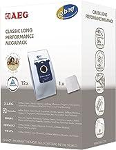 AEG GR201M original s-bag Classic Long Performance MegaPack, 12 Synthetik Staubsaugerbeutel, optimale Filtration und maximale Saugleistung, Hygieneverschluss, mehr Volumen, 50% Lebensdauer, weiß