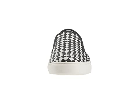 Zapatillas Veneta Blanco Checker Bottega on Slip Negro 8Awxrq80