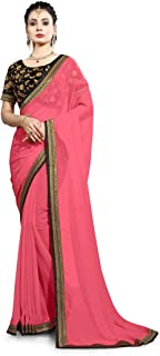 Ruchika Fashion Georgette Saree with Blouse Piece (RED_COFFEE-VAR_Multi_One Size)