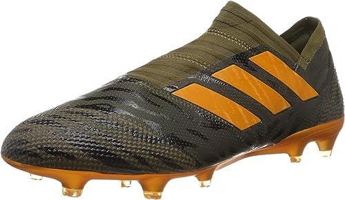 Adidas Nemeziz 17+ FG, Hausschuhe de Fútbol para Hombre, Grün Olive Orange, 47 1 3 EU