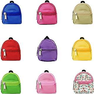 حقيبة ظهر دمية من جوفيبيل صغيرة الشكل حقائب ظهر بسحاب لطيف حقيبة كتف صغيرة مصغرة لملحقات الدمية 9 قطع