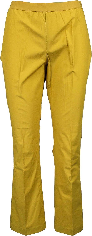 TWINSET Women's 191TT223003718 Yellow Cotton Pants