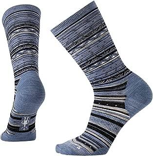 Ethno Graphic Crew Socks - Women's Ultra Light Cushioned Merino Wool Performance Socks