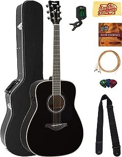 Yamaha FG-TA Transacoustic Guitar - Black Bundle with Hard Case, Tuner, Strings, Strap, Picks, Austin Bazaar Instructional DVD, and Polishing Cloth