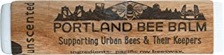 Portland Bee Balm All Natural Handmade Beeswax Based Lip Balm, Unscented Single Tube