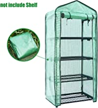 Mini Greenhouse Cover Replacement 4 Tier, PE Tier Home Plant Greenhouse Tent Outdoor Plastic(Without Iron Stand)