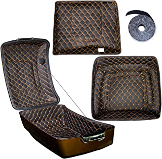 Us Stock King Tour Pack Liner Fit for Harley/Advanblack King Tour Pak(Orange Thread Stitching, Synthetic Leather, 1 Set)
