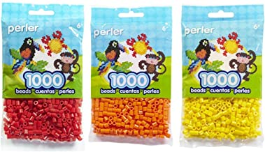 Perler Bead Bag, Red - Bundled with Orange and Yellow (3 Pack - Red, Orange, Yellow)