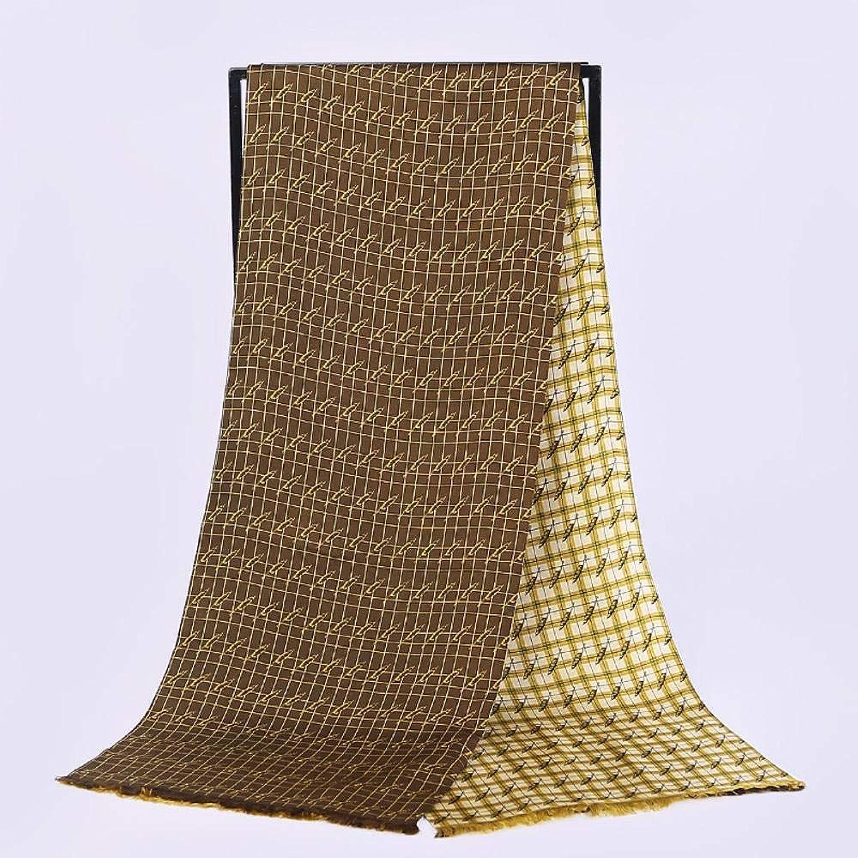 Weiwei Ladies Silk Shawl Unisex Silk Long Scarf Twill Double Scarf Send Friend 195cm26cm