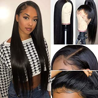 Best peruvian water wave hair lace frontal wig Reviews