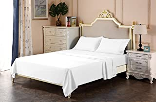 Angel Bedding 600 Thread Count Sheet Set - Queen -(White-Solid)