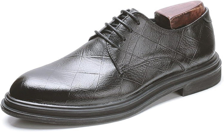Men's Derby Leather Formal Brogues Smart Lace-ups Wedding Groom Dress shoes For Men Business shoes