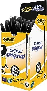 BIC BZ695 Cristal Original Ballpoint Pens Medium Point (1.0 Mm) Black, Box of 50