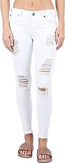 STS Blue Emma Skinny Ankle Jeans with Raw Frayed Hem