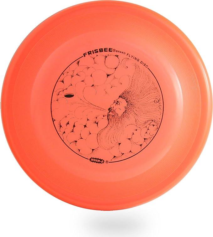 WHAM-O FRISBEE Flying Disc Orange With Blue Tiger Imprint
