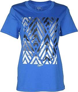 Converse Women's Chuck's Chevron Print Photo T-Shirt-Royal Blue