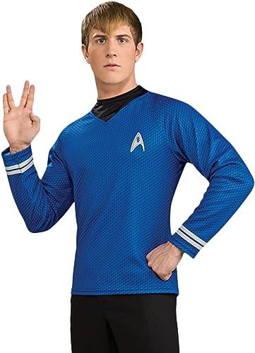 Lizenziertes Star Trek-Kostüm - Shirt - Scotty Kirk Spock - Blau - Größe S
