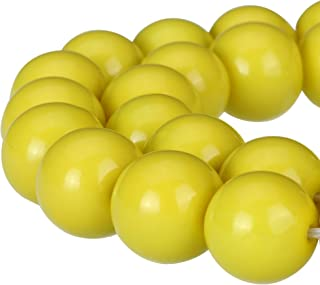 Best vintage yellow glass bead necklace Reviews
