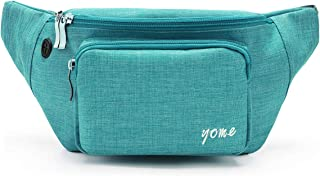 Fanny Pack for Men and Women, Yome Waist Pack Belt Bags with Adjustable Strap (Teal)