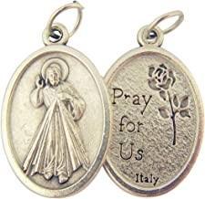 Catholic Patron Saint Medals Silver Toned Base, 1 Inch, Set of 2