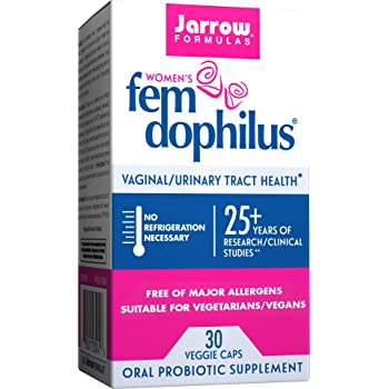 Jarrow Formulas Fem-Dophilus, 1 Billion Organisms Per Cap, Supports Vaginal and Urinary Tract Health, 30 Count (Cool Ship, Pack of 3)