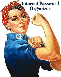 Internet Password Organizer: Rosie the Riveter Americana Design Alphabetical Web Address and Password Logbook Tracker
