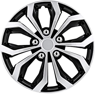 TuningPros WSC-533S14 Hubcaps Wheel Skin Cover 14-Inches Silver Set of 4