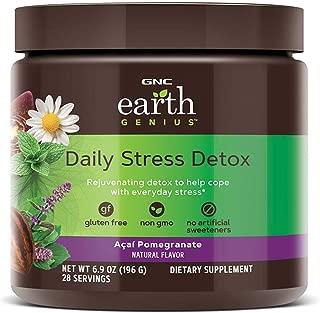 GNC Earth Genius Daily Stress Detox, Acai Pomegranate, 28 Servings