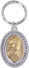 AngelStar Hope/Courage/Strength/Love/Healing/Faith Angel Key Chain, Silver