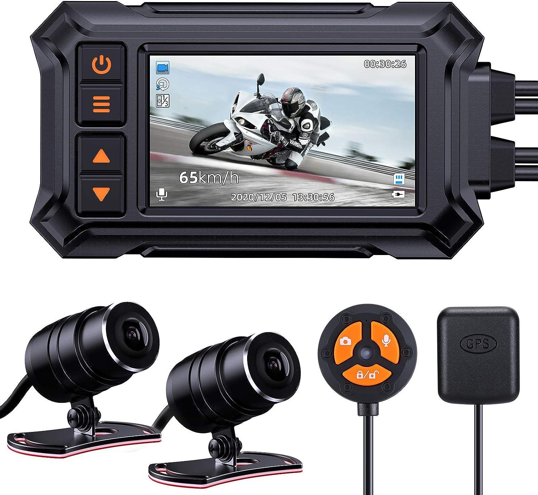 Blueskysea A12 Motorcycle Dash Cam Camera Dual 30fps 1080p Dedication Store Wide