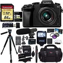 Panasonic DMC-G7KK Digital Single Lens Mirrorless Camera 14-42 mm Lens Kit, 4K + Accessory Bundle + Transcend 64 GB + Ritz Gear 60