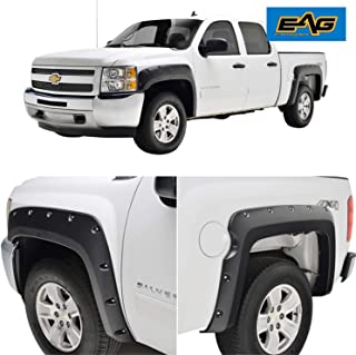 EAG ABS Fender Flare Rivet Style Fit for 07-13 Chevrolet Silverado 1500(5.9 Ft Bed)