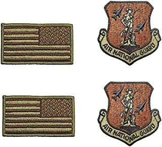 US Air Force Air National Guard OCP Spice Brown Patch and Flag Bundle