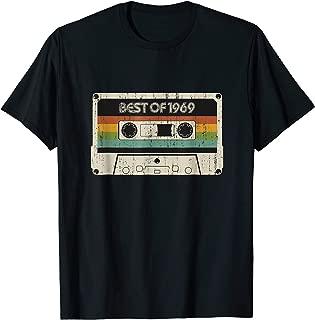 Vintage Best of 1969 50th Birthday Cassette Tee for men gift T-Shirt