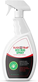 Bed Bug Killer Spray | All Natural, Non-Oily & Nontoxic Formula in an Ergonomic Bottle | Eradicates Eggs, Larvae, Bugs, Nymphs & Adult Bugs On Contact | Safe for Family, Pets & Kids