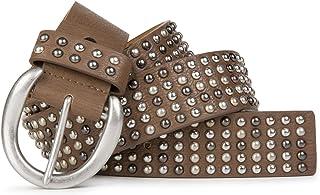 styleBREAKER cinturón de remaches en estilo «vintage» y tachuelas multicolores, acortable 03010048